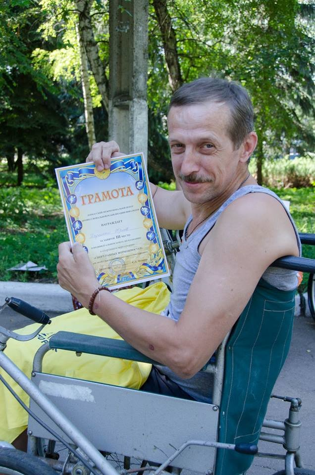 На озере Рапное краматорские инвалиды соревновались в плавании (ФОТО), фото-12