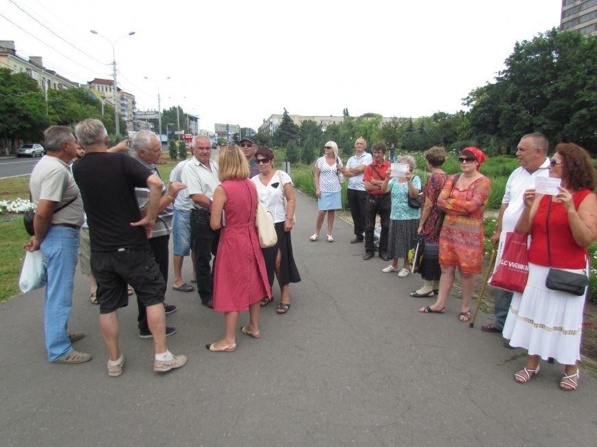 Участники незаконного референдума в Мариуполе вышли на митинг в поддержку Порошенко и Минских соглашений (ФОТО), фото-2