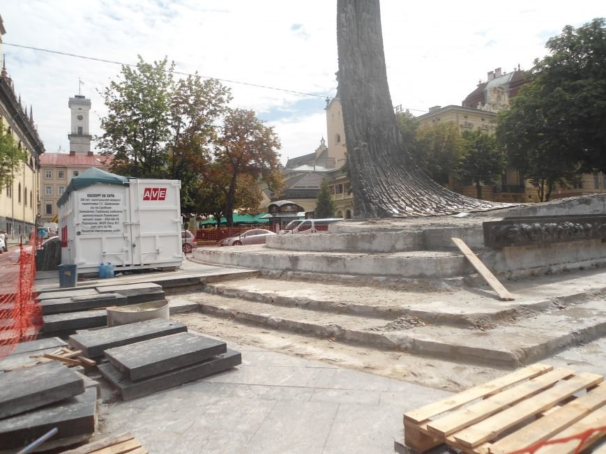 Як триває ремонт постаменту пам'ятника Тарасу Шевченку (ФОТО) (фото) - фото 7