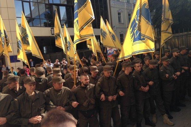 Митинг «Азова» заблокировал вход в здание ГФС (ФОТО), фото-3