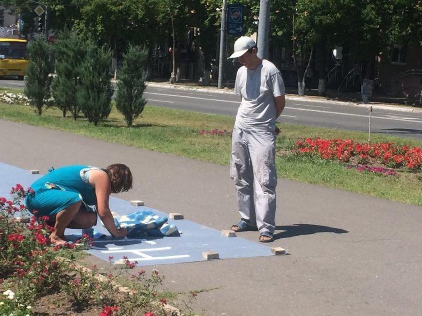 Мариупольский лагерь патриотов сегодня пугал оппонентов украинским флагом (ФОТО), фото-1