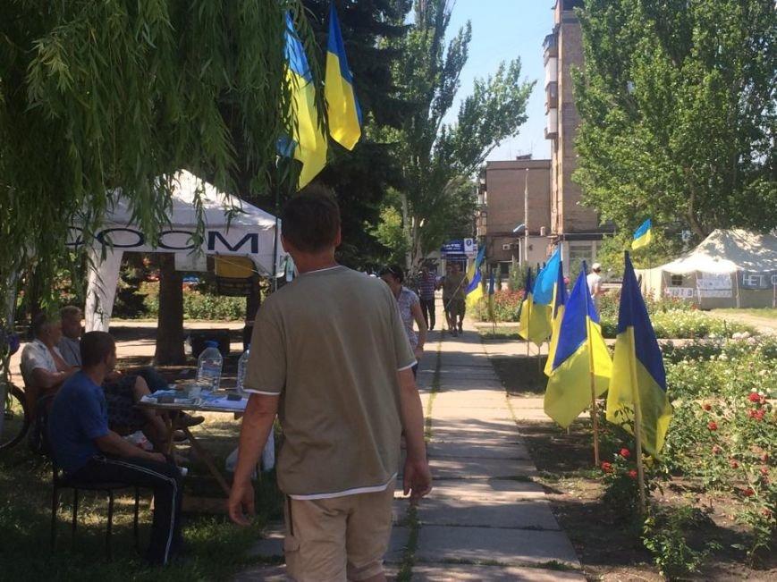 Мариупольский лагерь патриотов сегодня пугал оппонентов украинским флагом (ФОТО), фото-10