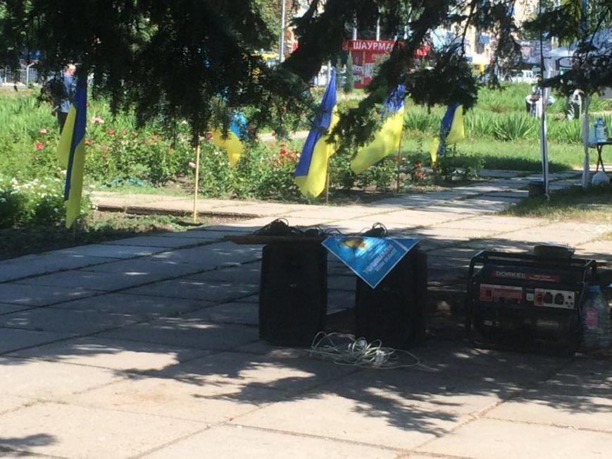 Мариупольский лагерь патриотов сегодня пугал оппонентов украинским флагом (ФОТО), фото-9