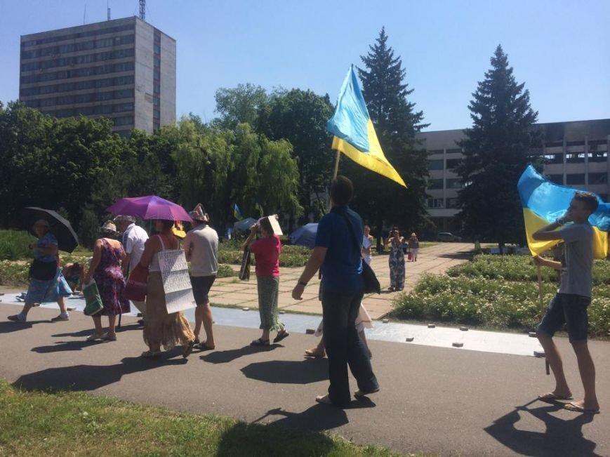 Мариупольский лагерь патриотов сегодня пугал оппонентов украинским флагом (ФОТО), фото-6