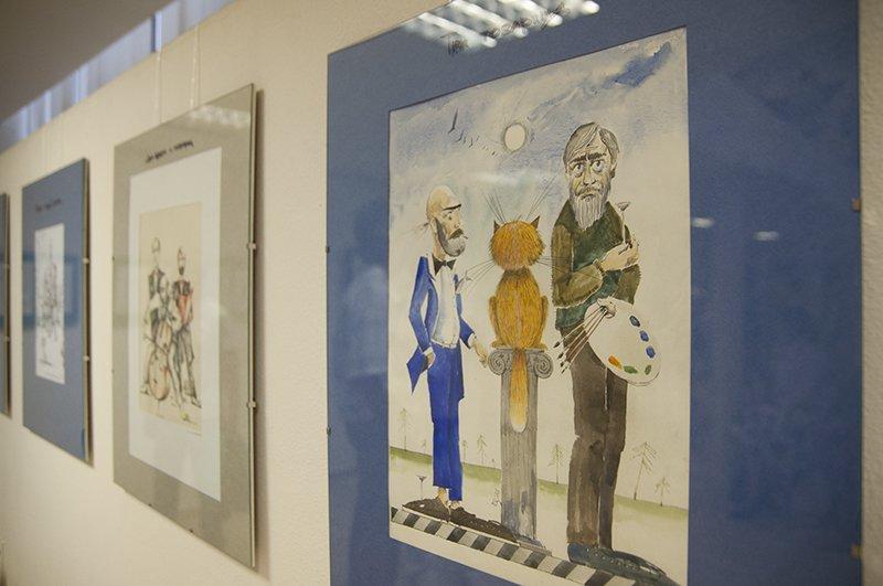 В Белгороде открылась выставка отца и сына Колегаевых «Колеграфика» (фото) - фото 1