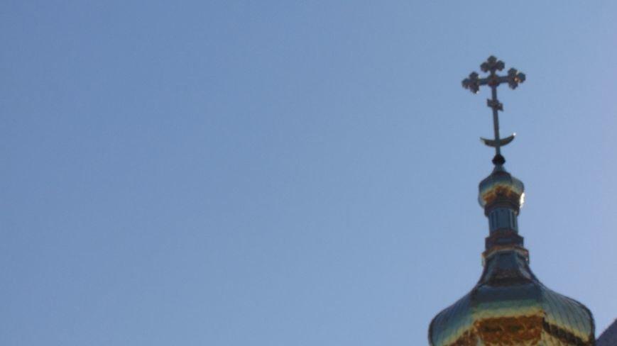 В Мариуполе на храме в честь Покрова Божьей Матери  засверкали православные кресты (фото) - фото 1