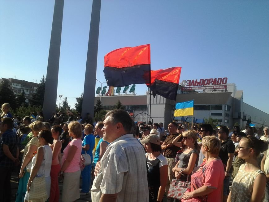 В Мариуполе прошел митинг против демилитаризации Широкино (ФОТО+ВИДЕО), фото-13