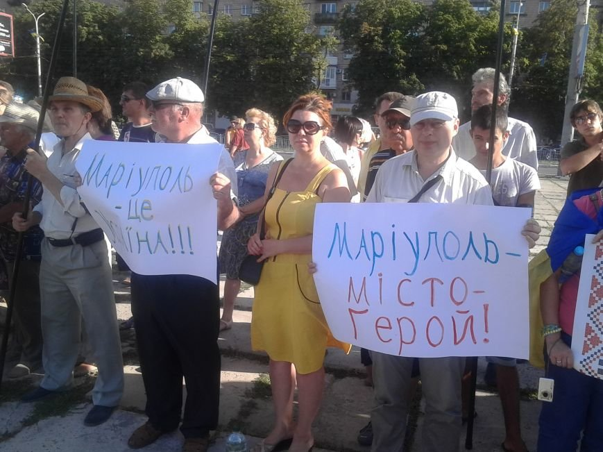 В Мариуполе прошел митинг против демилитаризации Широкино (ФОТО+ВИДЕО), фото-8