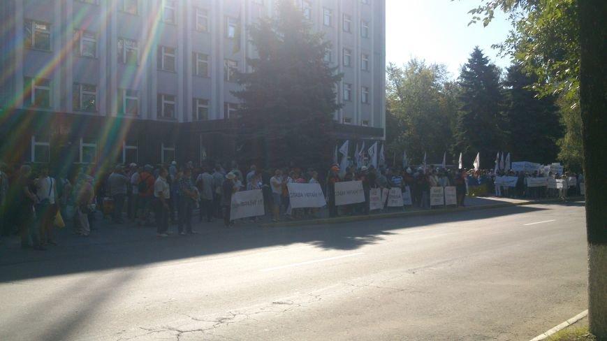 Пикет под УПДМН: работники Нефтехимика требуют отставки руководство Нефтегаза, Укртранснафты и УПДМН (ФОТО), фото-1