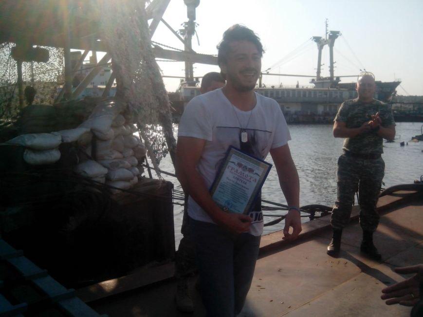 Мариупольских «морских котиков» посетил известный украинский шоумен, фото-4