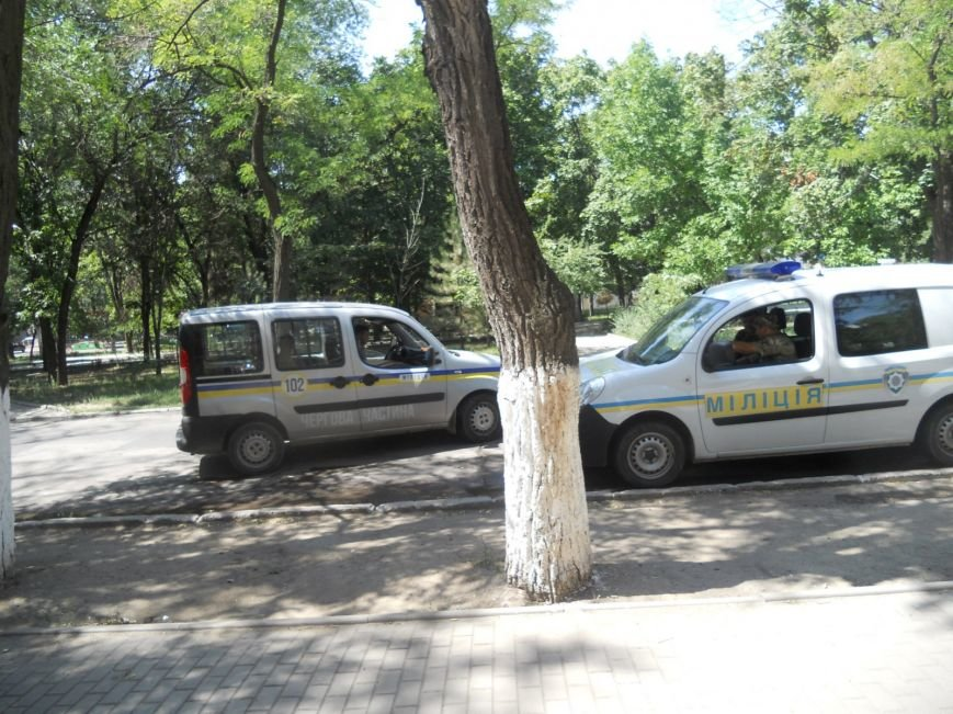 Мариуполец устроил одиночный пикет против сломанной ветки (ФОТО), фото-1