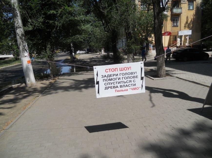 Мариуполец устроил одиночный пикет против сломанной ветки (ФОТО), фото-4