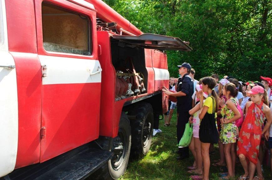 Конотопські рятувальники провели навчання з дітьми у оздоровчих таборах, фото-2