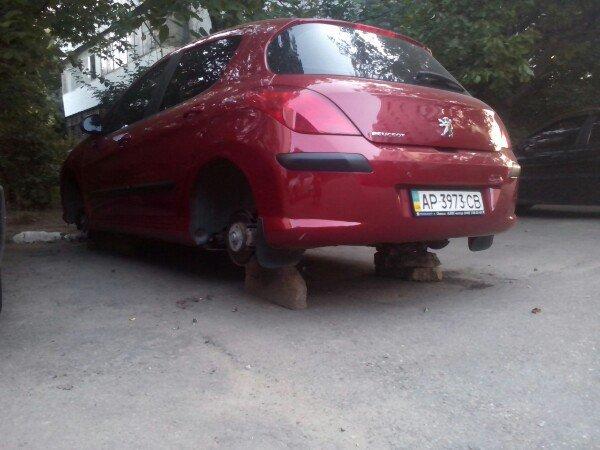 В Запорожье еще один автомобиль остался без колес (ФОТО) (фото) - фото 2