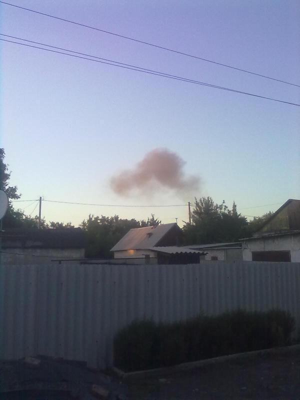 В Донецке снова мощный взрыв в районе завода химизделий (фото, видео) (фото) - фото 1