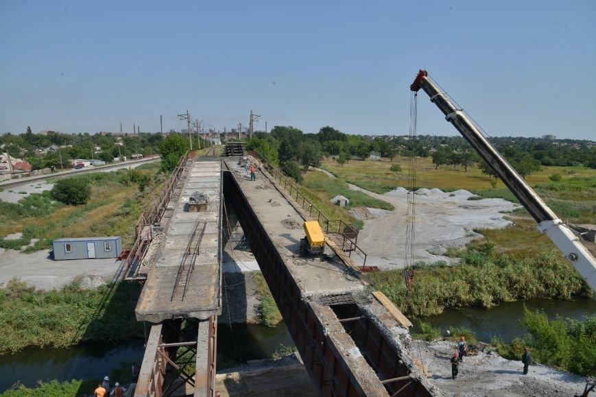 Восстановление взорванного террористами ж/д моста через Кальчик: строители готовятся к подъему пролетов (ФОТО), фото-3