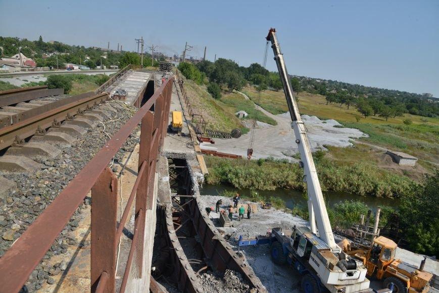 Восстановление взорванного террористами ж/д моста через Кальчик: строители готовятся к подъему пролетов (ФОТО), фото-4