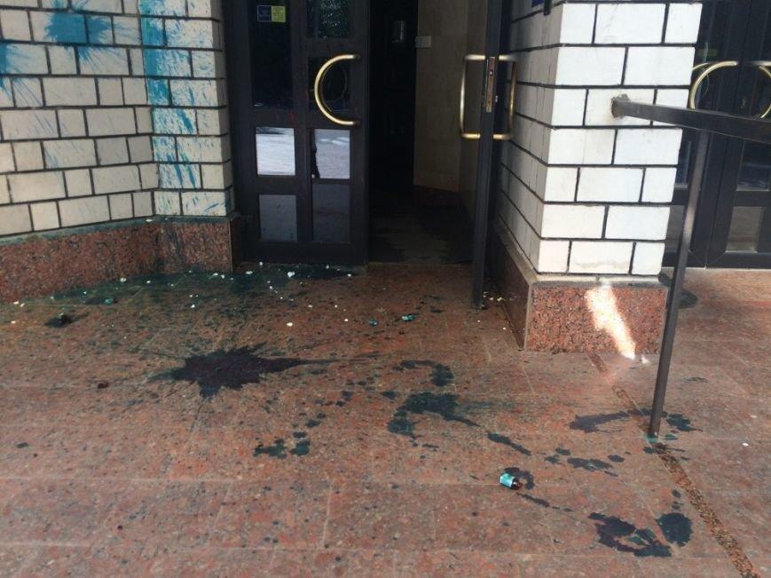 Кременчугские хулиганы снова испачкали приёмную народного депутата Юрия Шаповалова, фото-2