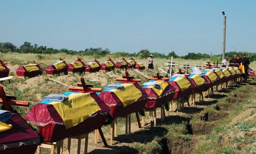 Под Запорожьем неопознанных солдат похоронили через год после гибели (ФОТОРЕПОРТАЖ), фото-1