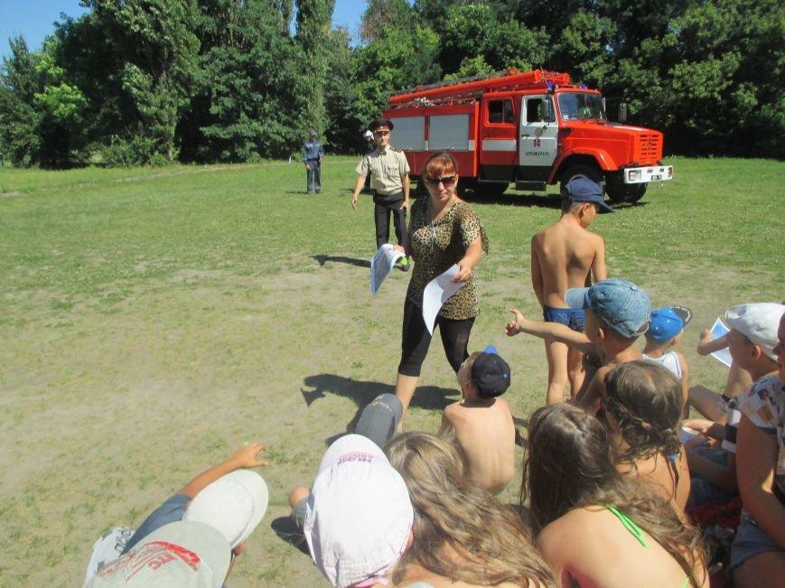 Кременчугские пожарные учили детей, отдыхающих в «Звёздном» и «Энергетике», тушить пожар (ФОТО), фото-2