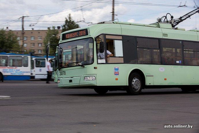 Гродненские водители победили на республиканских соревнованиях троллейбусов в Минске (фото) - фото 16