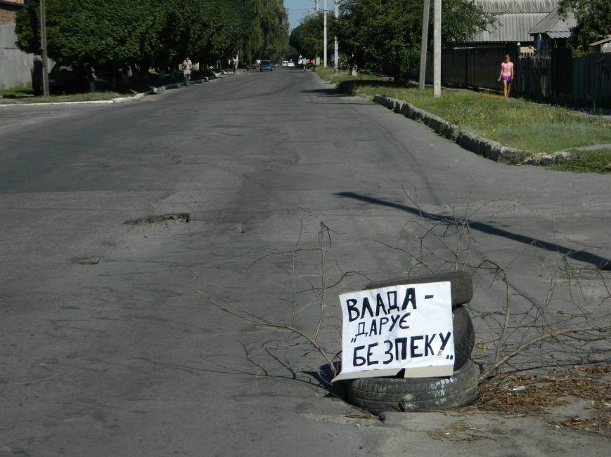 Лубенські активісти в оригінальний спосіб привертають увагу до відсутності люків на дорогах. Фото, фото-2