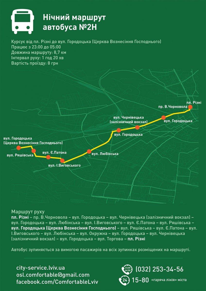 Як і коли курсують нічні автобуси у Львові. Графік (фото) - фото 2