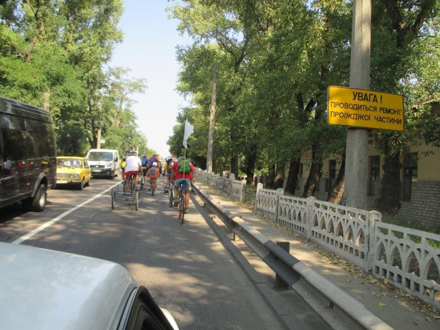 Кременчугские спасатели встретили участников велопробега на въезде в город, фото-9