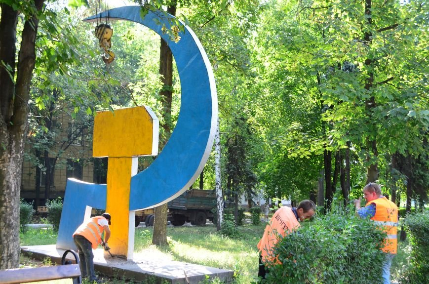 В Красноармейске сносят серп и молот (ОБНОВЛЕНО), фото-15