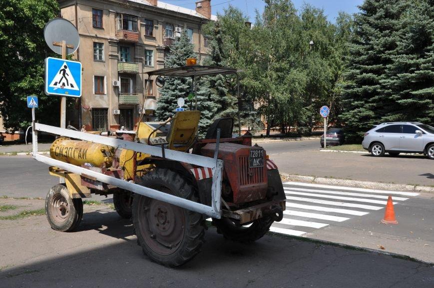На краматорских дорогах появились свежие «зебры», фото-3