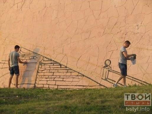 В Гродно скоро появится новая достопримечательность: на стене возле Нового замка рисуют гравюру (фото) - фото 6