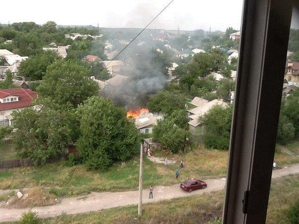 Пожар в Макеевке. В поселке Новые планы загорелся частный дом (фото) - фото 1