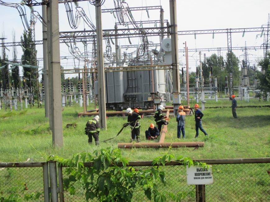Сегодня кременчугские спасатели «тушили пожар» в трансформаторе на ТЭЦ (ФОТО), фото-7