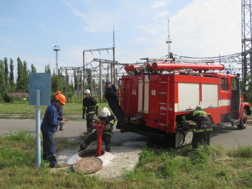 Сегодня кременчугские спасатели «тушили пожар» в трансформаторе на ТЭЦ (ФОТО), фото-5