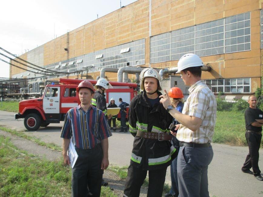 Сегодня кременчугские спасатели «тушили пожар» в трансформаторе на ТЭЦ (ФОТО), фото-3