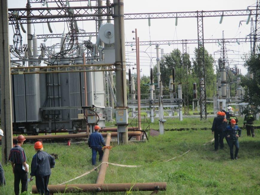 Сегодня кременчугские спасатели «тушили пожар» в трансформаторе на ТЭЦ (ФОТО), фото-9