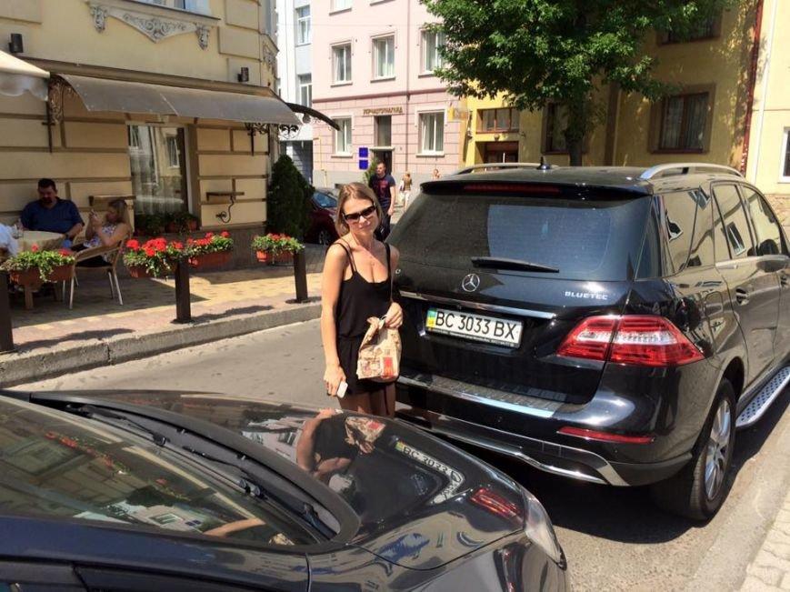 Львів'янка впіймали Ольгу Фреймут на неправильному паркуванні (ФОТО) (фото) - фото 1