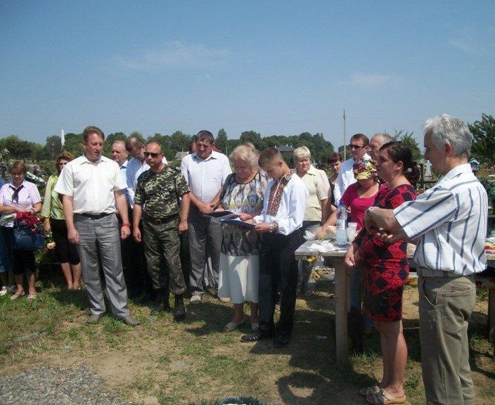 Освятили пам'ятник на могилі героя П. Лейби у Берегометі, фото-2