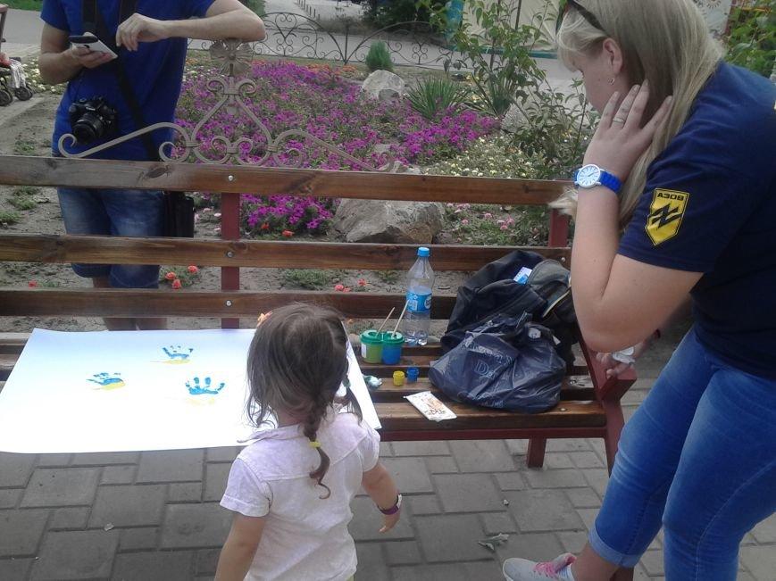 Цивильный корпус «Азов» рисовал с детьми в Мариуполе (ФОТО), фото-7