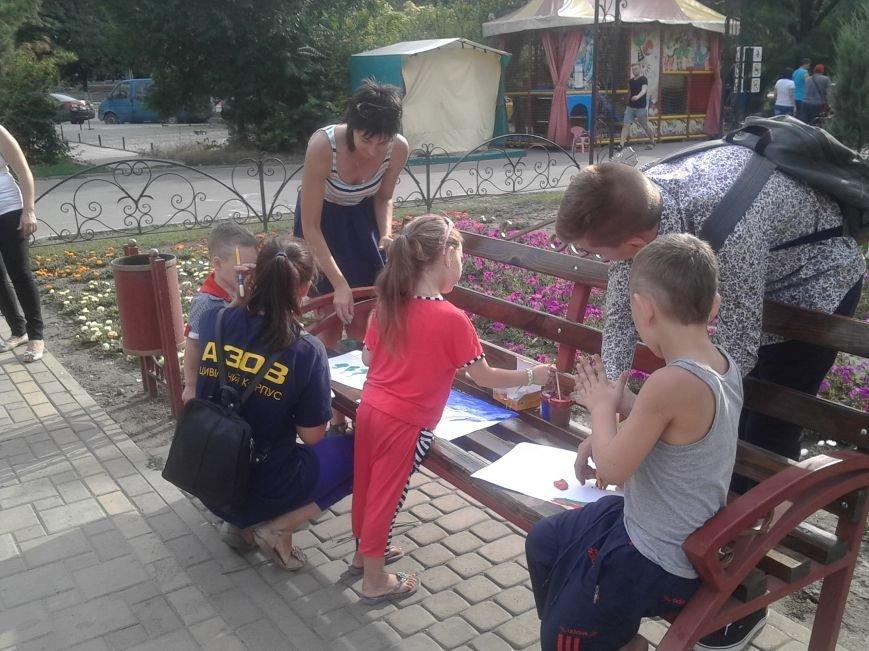 Цивильный корпус «Азов» рисовал с детьми в Мариуполе (ФОТО), фото-2