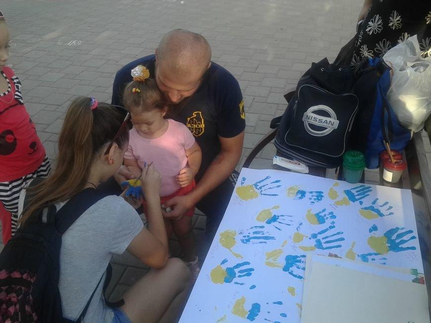 Цивильный корпус «Азов» рисовал с детьми в Мариуполе (ФОТО), фото-1