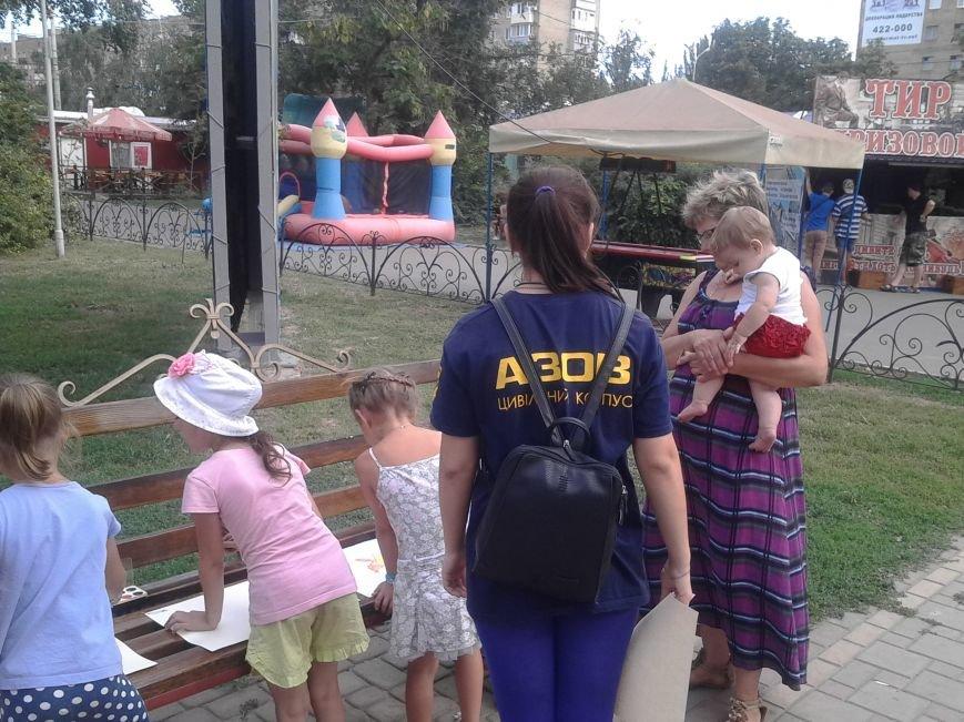 Цивильный корпус «Азов» рисовал с детьми в Мариуполе (ФОТО), фото-5
