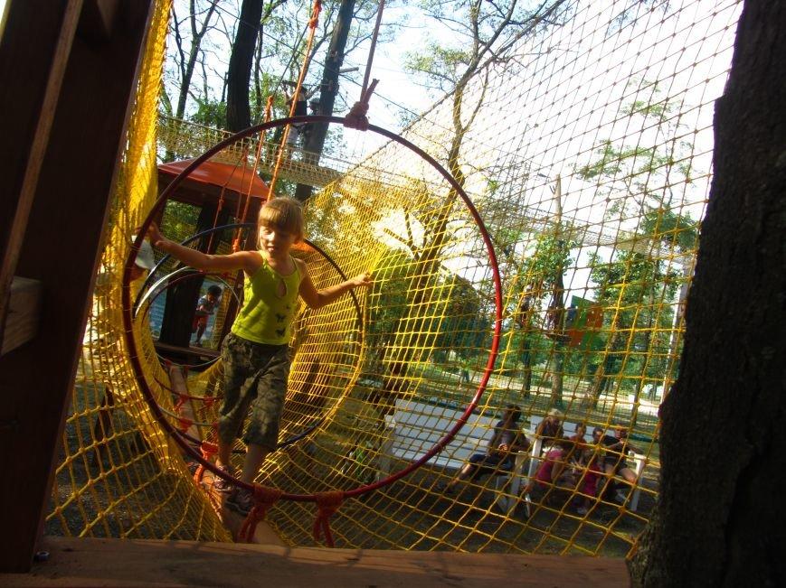 В Днепропетровске открылся новый веревочный парк с велосипедами на деревьях, фото-7