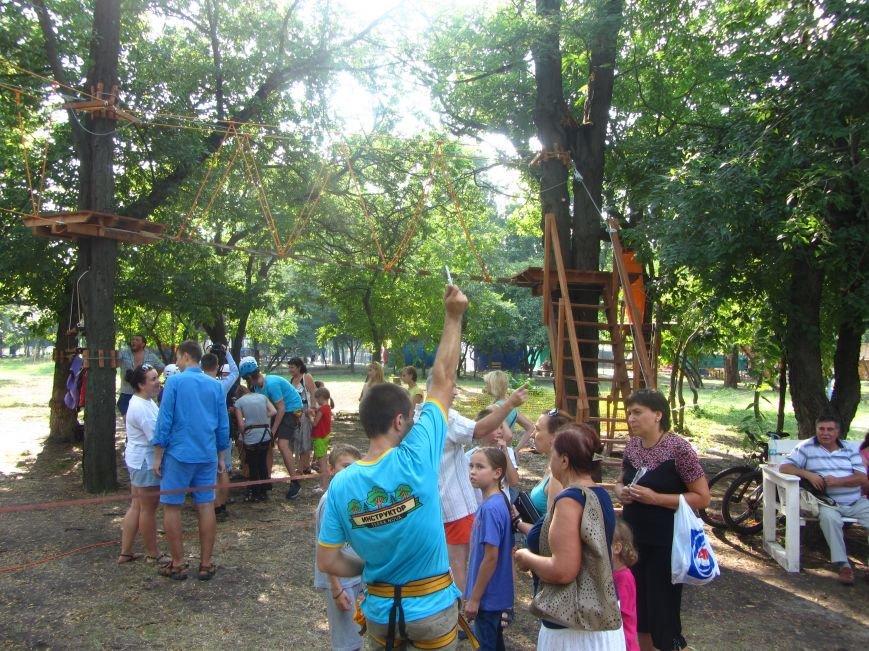 В Днепропетровске открылся новый веревочный парк с велосипедами на деревьях, фото-8