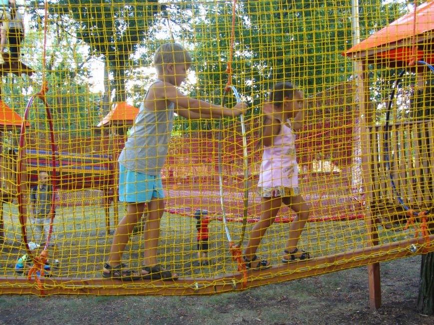 В Днепропетровске открылся новый веревочный парк с велосипедами на деревьях, фото-2