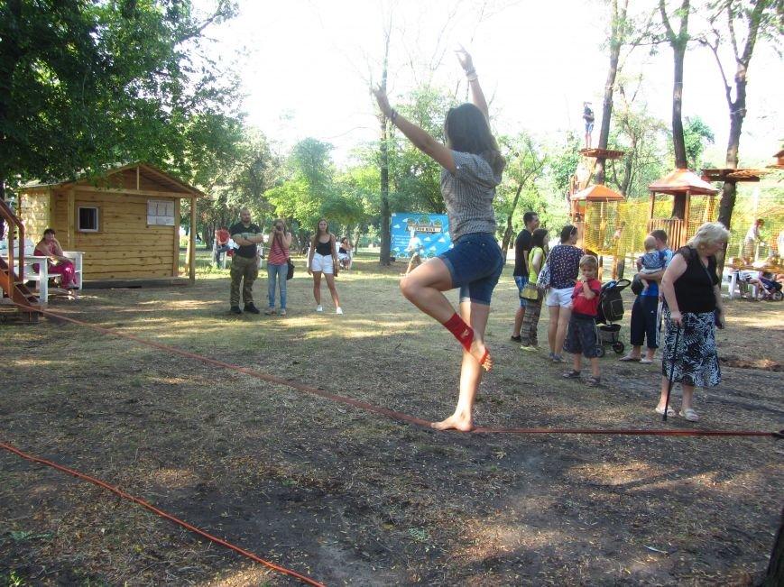В Днепропетровске открылся новый веревочный парк с велосипедами на деревьях, фото-10