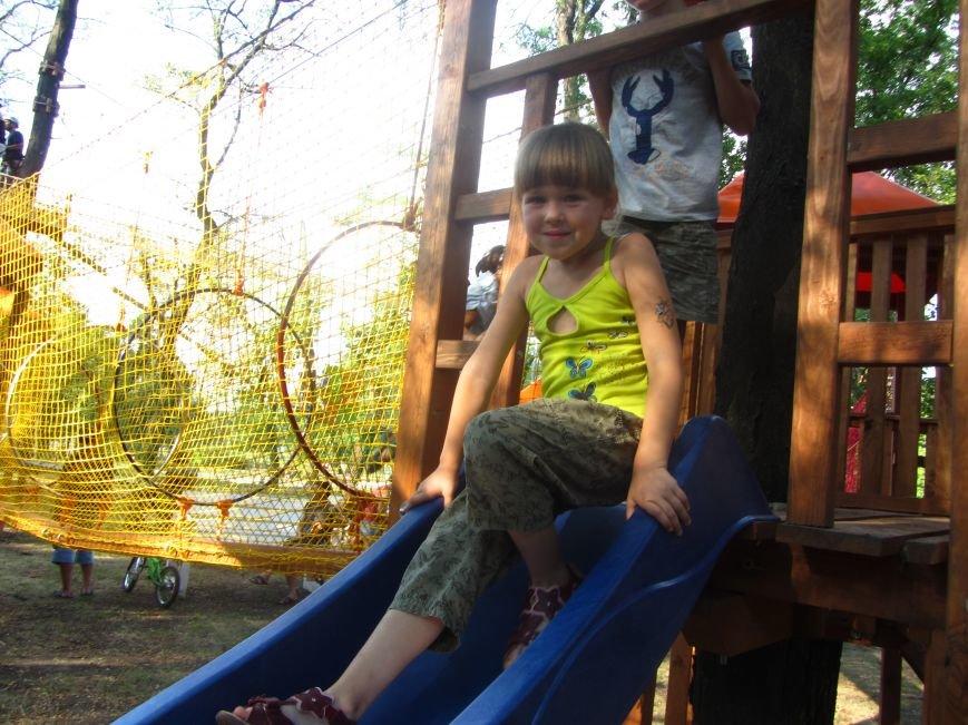 В Днепропетровске открылся новый веревочный парк с велосипедами на деревьях, фото-5