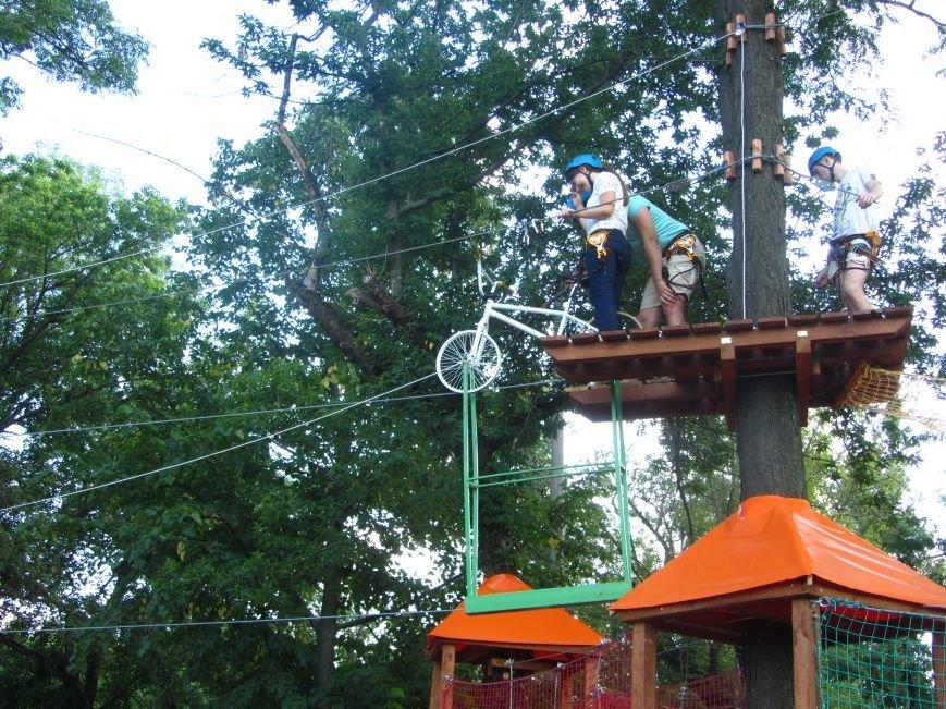 В Днепропетровске открылся новый веревочный парк с велосипедами на деревьях, фото-12
