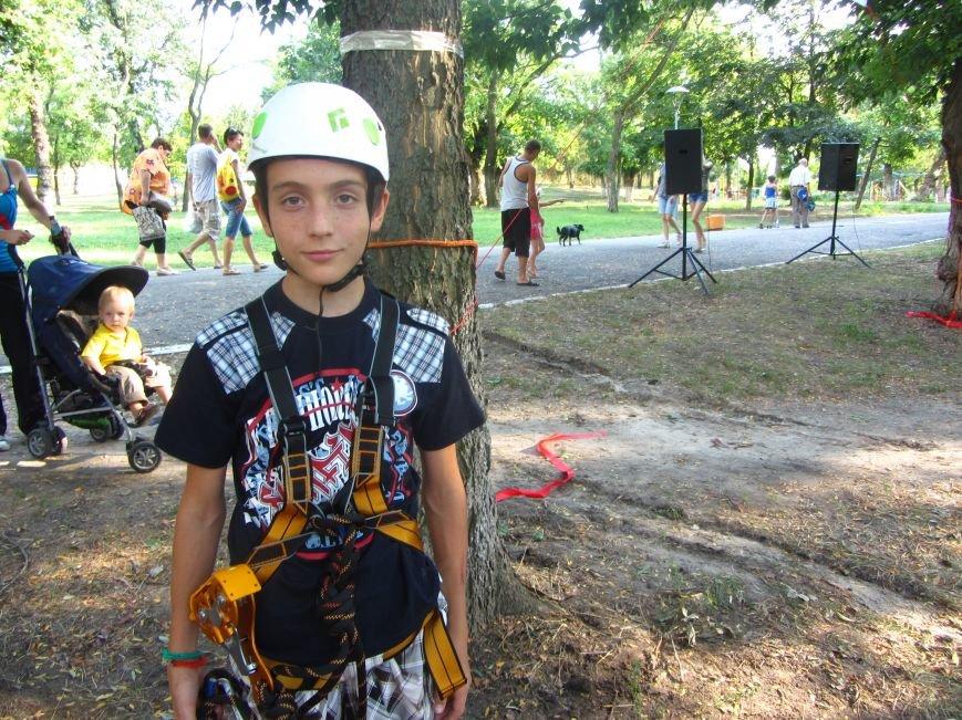 В Днепропетровске открылся новый веревочный парк с велосипедами на деревьях, фото-9