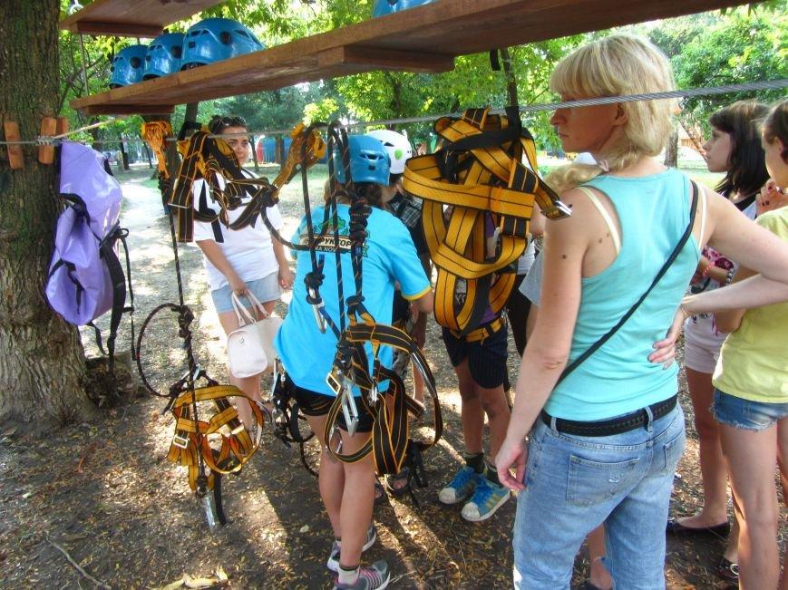 В Днепропетровске открылся новый веревочный парк с велосипедами на деревьях, фото-6